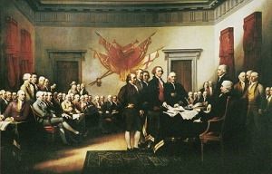 Artist John Trumbull was commissioned in 1817 to paint this portrait.